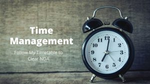 Time management tips for NDA Exam
