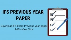 IFS Previous year question paper
